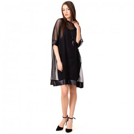 Rochie transparenta cu maieu2