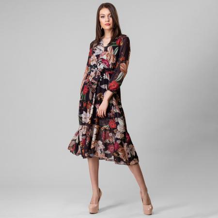 Rochie lunga cu imprimeu floral1