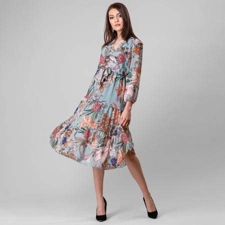 Rochie cu imprimeu floral0