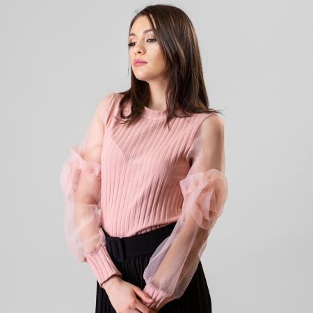 Bluza maneca trandafir1