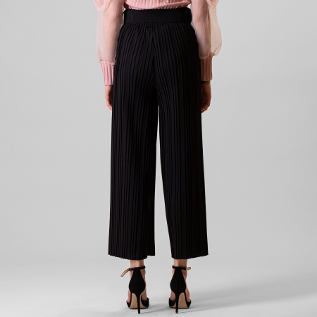 Pantalon plisat cu curea5
