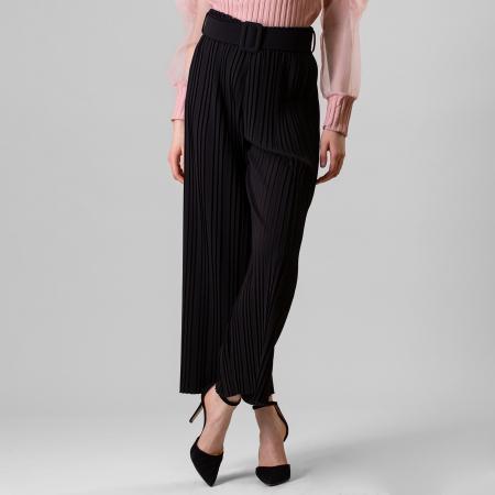 Pantalon plisat cu curea3