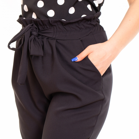 Pantalon cu cordon in talie [2]