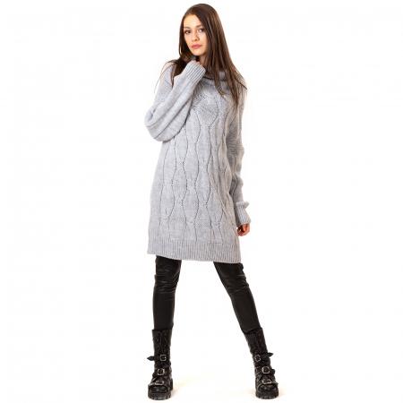 Pulover tricotat cu guler [5]