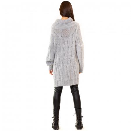 Pulover tricotat cu guler [7]