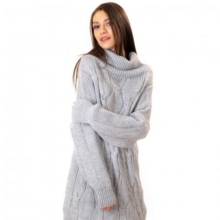 Pulover tricotat cu guler [8]