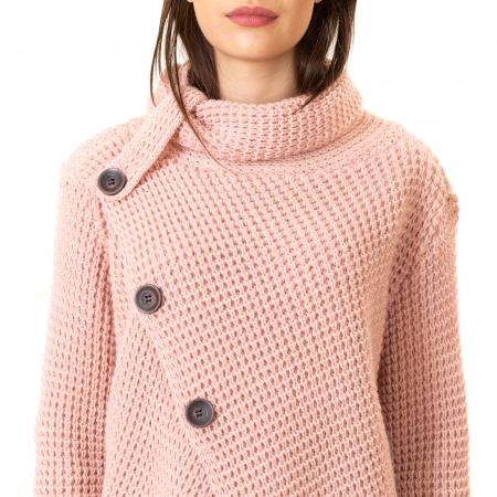 Pulover tricotat cu nasturi8