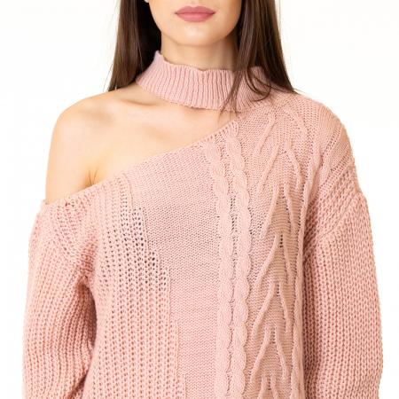 Bluza tricotata cu umarul gol [6]