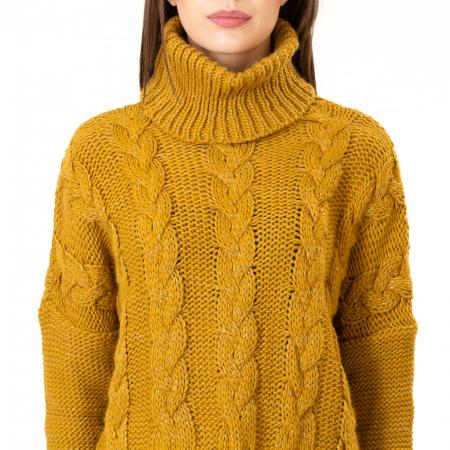 Bluza scurta tricotata cu guler rol [6]