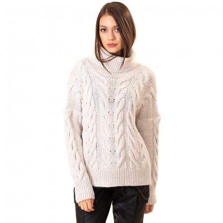 Bluza tricotata cu guler rol0