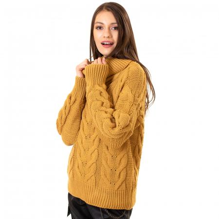 Bluza tricotata cu guler rol4