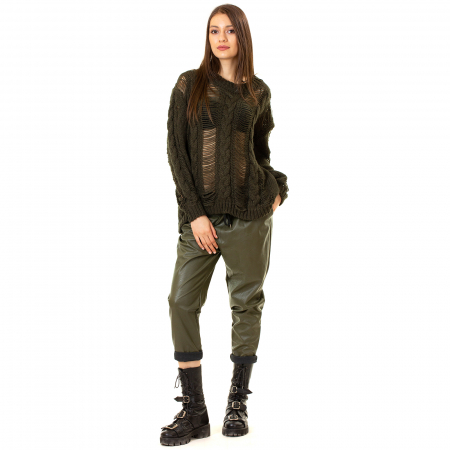 Pantalon piele ecologica cu buzunare3
