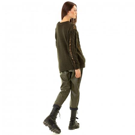 Pantalon piele ecologica cu buzunare4