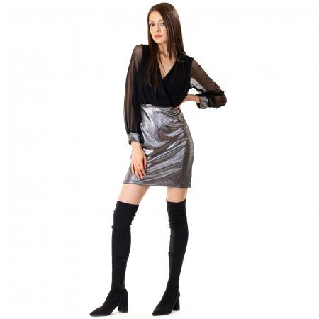 Rochie din voal si fibra metalica [6]