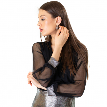 Rochie din voal si fibra metalica [8]
