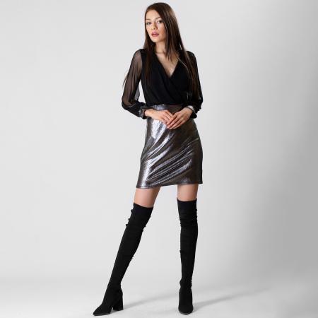 Rochie din voal si fibra metalica [0]