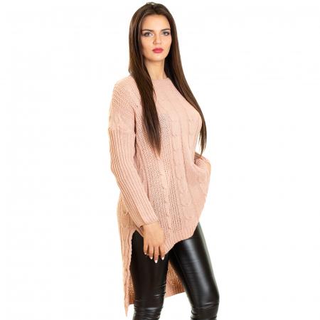 Pulover tricotat asimetric3