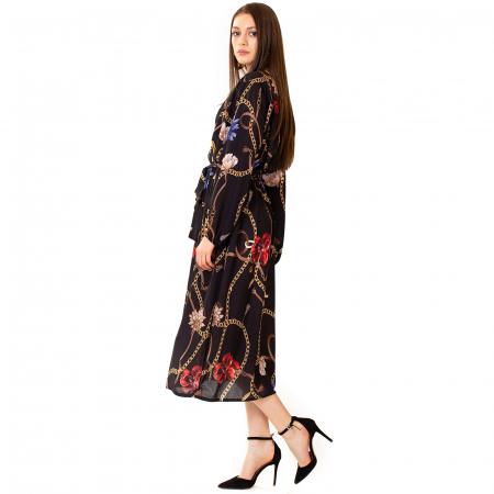 Rochie din voal cu imprimeu2