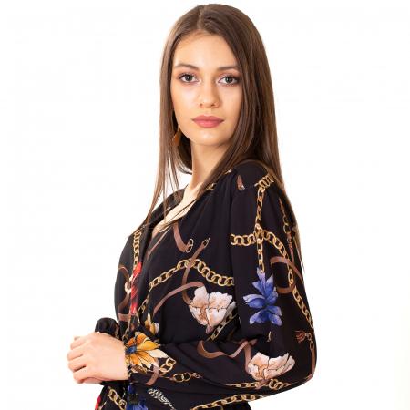 Rochie din voal cu imprimeu5