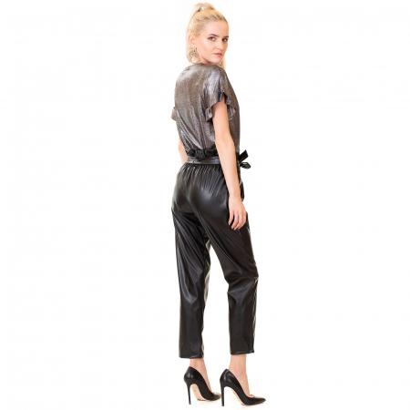 Pantalon piele ecologica , cu cordon4