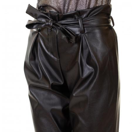 Pantalon piele ecologica , cu cordon5