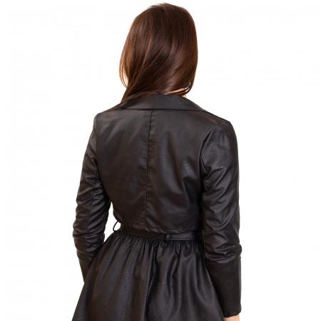 Jacheta scurta cu fermoar ,  din piele ecologica1