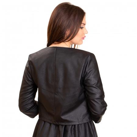 Jacheta scurta cu buzunare , din piele ecologica2