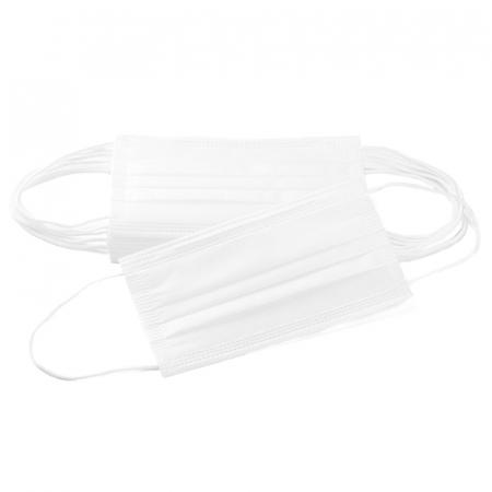 Masca de protectie civila de tip chirurgical FFP1    / ambalare *1 CUTIE 50 buc /  marca proprie AEA MEDICAL produs in ROMANIA / SIBIU -culoare ALB3