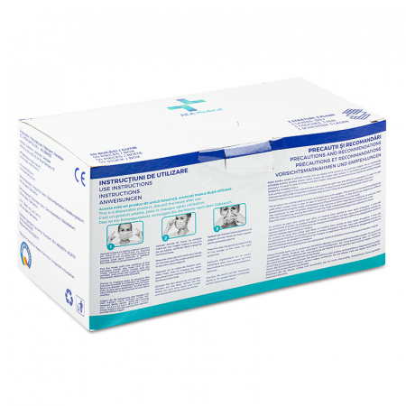 Masca medicala TIP IIR / ambalare *1 CUTIE 50 buc / marca proprie AEA MEDICAL produs in ROMANIA / SIBIU-culoare ALBASTRU [4]