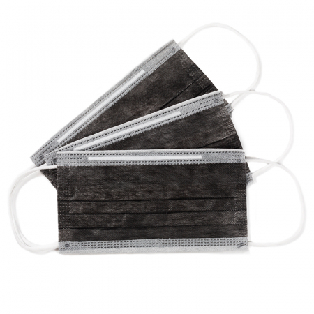 Masca de protectie tip chirurgical FFP1 Clasa1 TIP II R / ambalare *1 CUTIE 50 buc / marca proprie AEA MEDICAL produs in ROMANIA / SIBIU -culoare NEGRU [3]