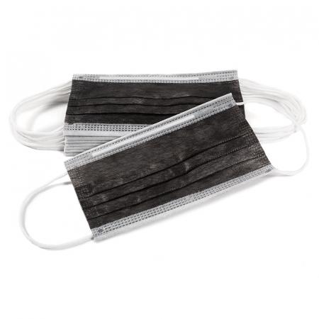 Masca de protectie tip chirurgical FFP1 Clasa1 TIP II R / ambalare *1 CUTIE 50 buc / marca proprie AEA MEDICAL produs in ROMANIA / SIBIU -culoare NEGRU [2]