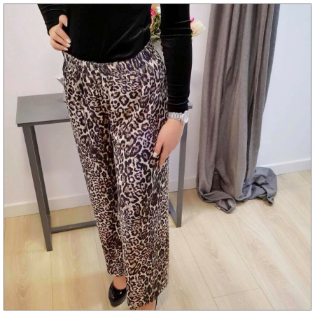 Pantalon  catifea animal print1