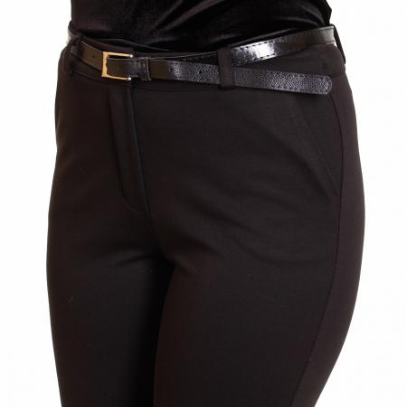Pantalon conic cu curea,  buzunare laterale si  fermoar2
