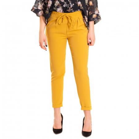 Pantalon usor conic , cu snur in talie si elastic [0]