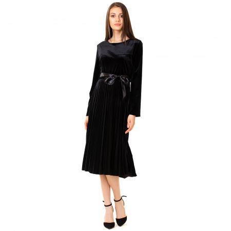 Rochie catifea cu maneca lunga0