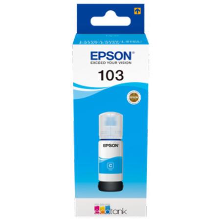 Cerneala Epson 103 Cyan (C13T00S24A) - imprimanta Epson L3110 / L3111 / L3150 / L3151 / L3160 / L5190 0