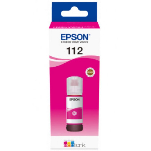 Cerneala Epson 112 EcoTank/ITS C13T06C34A magenta - imprimante Epson L11160, L6550, L6570, L15150, L15160 0