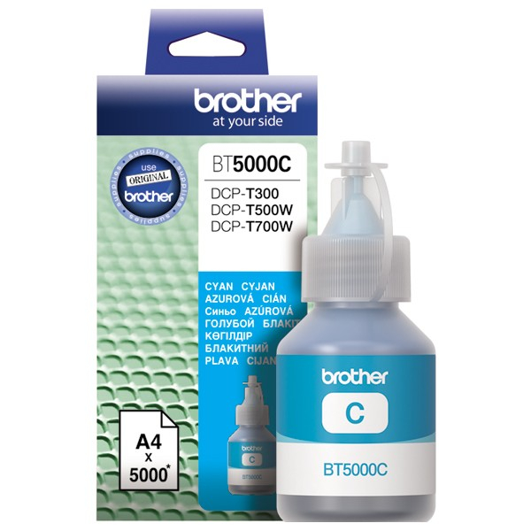 Cerneala originala Brother BT5000C Cyan - imprimante Brother T300, T310 / T500W / T510W / T700W / T710W / T910DW [0]