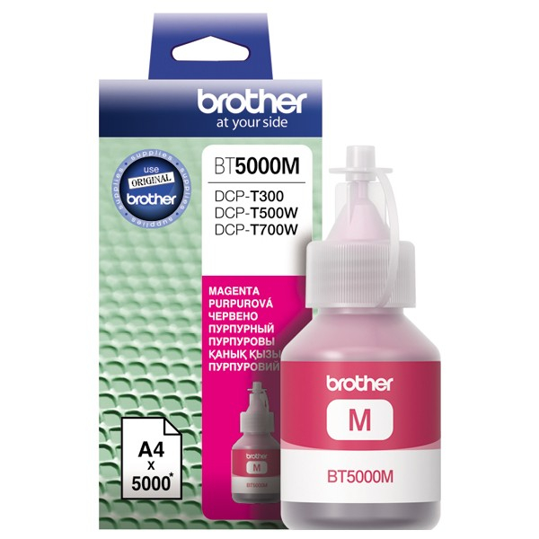 Cerneala originala Brother BT5000M Magenta- imprimante Brother T300, T310 / T500W / T510W / T700W / T710W / T910DW 0
