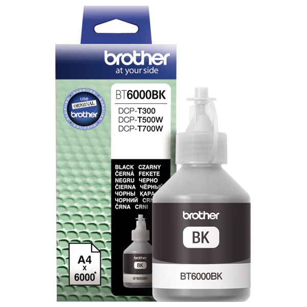 Cerneala originala Brother BT6000BK BLACK - imprimante Brother T300, T310 / T500W / T510W / T700W / T710W [0]