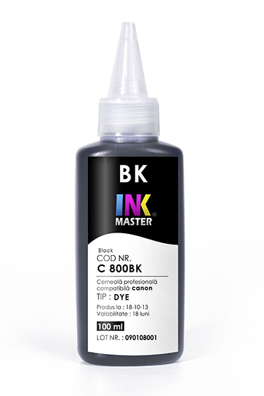 Cerneala profesionala Inkmaster compatibila Canon - DYE, BLACK, C800BK 0