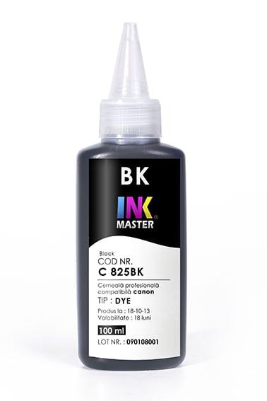 Cerneala profesionala Inkmaster compatibila Canon - DYE, BLACK, C825BK [0]