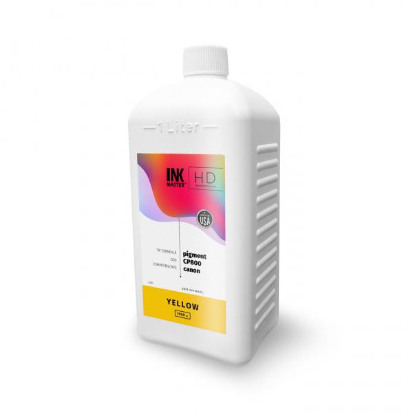 Cerneala profesionala Inkmaster compatibila Canon - PIGMENT, Yellow, CP800Y, 1 litru [0]
