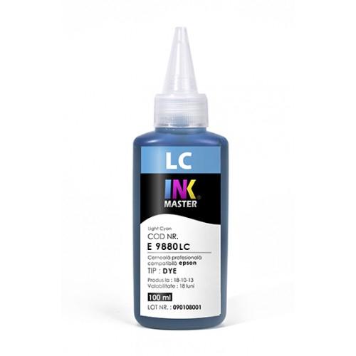 Cerneala profesionala Inkmaster compatibila Epson - DYE, Light Cyan, E9880LC 0