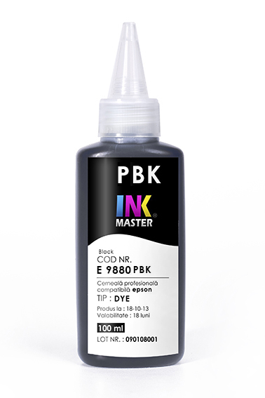 Cerneala profesionala Inkmaster compatibila Epson - DYE, Photo Black, E9880PBK [0]