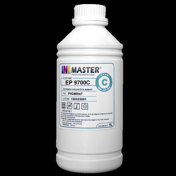 Cerneala profesionala Inkmaster compatibila Epson - PIGMENT, Cyan, EP9700C 0