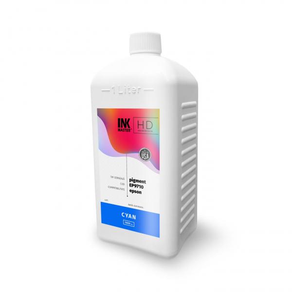 Cerneala profesionala Inkmaster compatibila Epson - PIGMENT, Cyan, EP9710C, 1 Litru 0