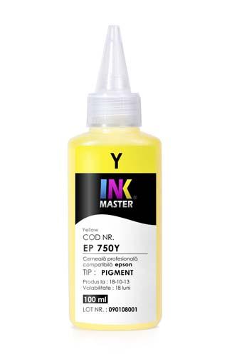 Cerneala profesionala Inkmaster compatibila Epson - PIGMENT, Galben, EP850Y 0