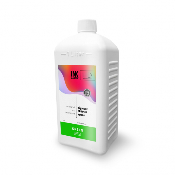 Cerneala profesionala Inkmaster compatibila Epson - PIGMENT, Green, EP9900G, 1 Litru [0]