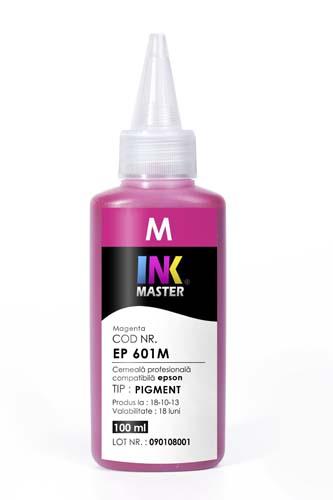 Cerneala profesionala Inkmaster compatibila Epson - PIGMENT, Magenta, EP601M 0